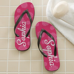 Stocking Stuffers for 19 Year Old  Daughter (Under $25):Personalized Flip Flops