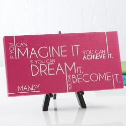 Gifts for Teenage Girls:Personalized Canvas Prints - Inspiriting..