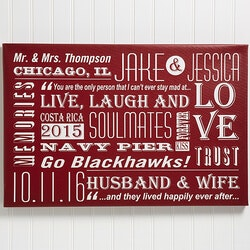 Personalized Gifts for Husband:Our Life Together