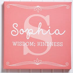 Personalized Name Meaning Canvas Art Print..