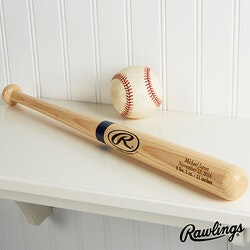 Personalized Wooden Baseball Bat - Engraved..