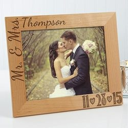Wedding Gifts Under $50:Personalized Wedding Photo Wood Frame - Our..
