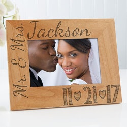 Personalized Gifts (Under $25):Personalized Wedding Photo Wood Frame - Our..