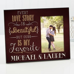 Personalized Gifts for Husband:Our Love Story Picture Frame