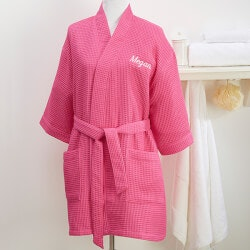 Gifts for Girlfriend:Custom Embroidered Kimono Robe
