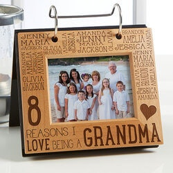 Gifts for Grandmother:Personalized Photo Flip Picture Album -..