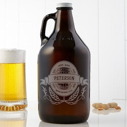 Personalized Christmas Gifts for Husband:Personalized Beer Growler