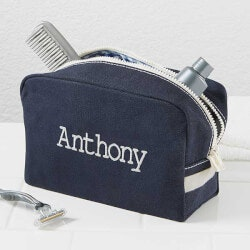 Personalized Mens Travel Toiletry Bag -..