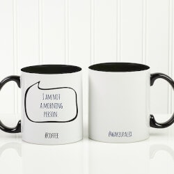 Personalized Christmas Gifts for Sister:Social Media Coffee Mug