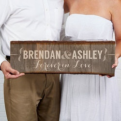 Anniversary Gifts for Girlfriend:Personalized Basswood Wall Art Sign - Rustic..