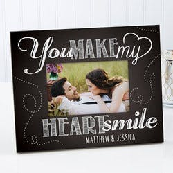 Personalized Photo Frame - You Make My Heart..