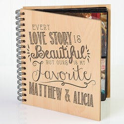 Personalized Romantic Wedding Photo Album -..