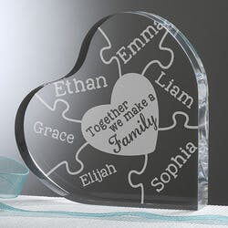 Personalized Heart Keepsake - Together We..