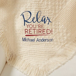Retirement Gifts for Coworkers Under $100:Personalized Retirement Afghan