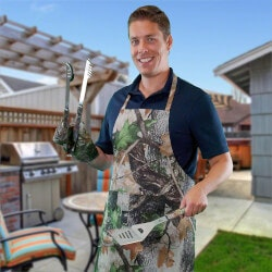 Funny Birthday Gifts for Boyfriend:Ultimate Camo Grilling Tools Set
