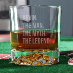 Stocking Stuffers:The Man The Myth The Legend Whiskey Glass