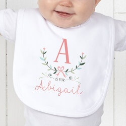 Personalized Gifts (Under $10):Personalized Baby Bib - Girly Chic