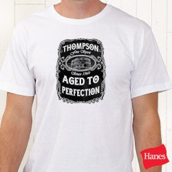 Personalized Whiskey Label Apparel - T-Shirt