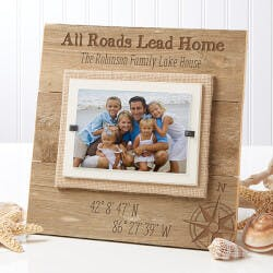 Personalized Reclaimed Beachwood Frame -..