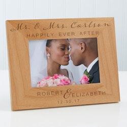 Personalized Gifts (Under $25):Personalized Wood Wedding Frame - Wedding..