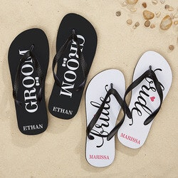 Wedding Gifts:Personalized Wedding Flip Flops