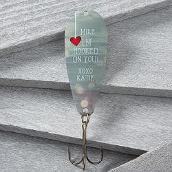 Personalized Christmas Gifts for Husband:Hooked On You Fishing Lure