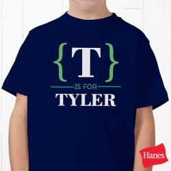 Personalized Gifts for Boys:Personalized Name Bracket Apparel - Youth..