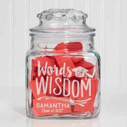 Personalized Gifts for Teenage Girls:Personalized Words Of Wisdom Graduation Jar