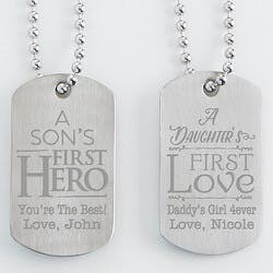 Personalized Dog Tag Set Of Two - First..