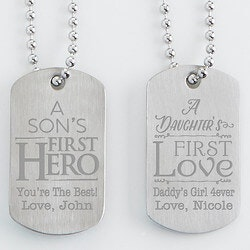 Stocking Stuffers (Under $50):Personalized Dog Tag Set Of Two - First..
