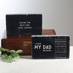 Personalized Gifts for Dad:Engraved Marble Keepsake - I Love Him