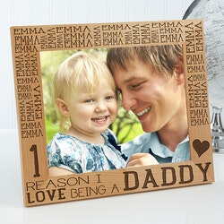 Birthday Gifts for Dad:Personalized Picture Frame For Him - Reasons..