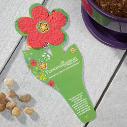 Personalized Gifts:Wildflower Seeded Flower Card