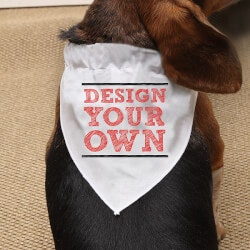 Gifts for Dog Lovers:Design Your Own Personalized Dog Bandana -..