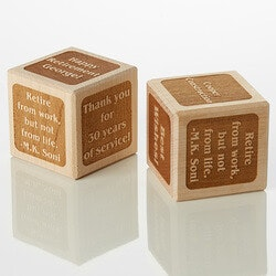 Retirement Gifts:Personalized Wood Block - Retirement