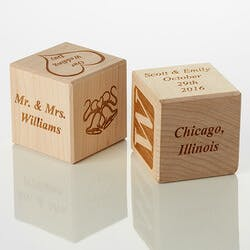 Personalized Wood Block - Our Wedding