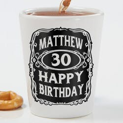 Personalized Birthday Shot Glass - Whiskey..