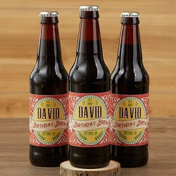 Gifts for Dad:Personalized Beer Bottle Labels Set Of 6 -..