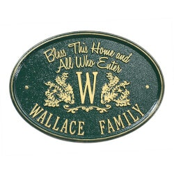 Personalized Gifts:Bless Our Home Personalized Aluminum Plaque..