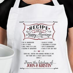 Personalized Wedding Apron - Recipe For A..