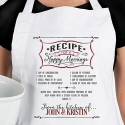Wedding Gifts:Personalized Wedding Apron - Recipe For A..
