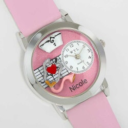 Personalized Gifts:Personalized #-D Pink Nurse Watch