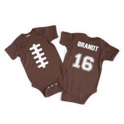 Personalized Football Babysuit
