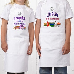 Personalized Gifts for 3 Year Old:Personalized Kids Aprons - Junior Chef Design