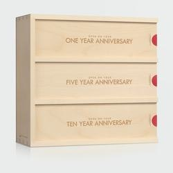 Wine Anniversary Gifts for Women:Classic Trio - Anniversary Wine Box