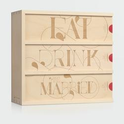 Wine Anniversary Gifts for Women:Eat Drink & Be Married - Anniversary Wine Box
