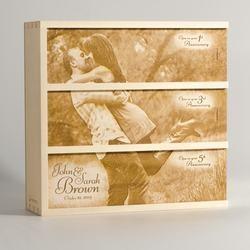 Wine Gifts:Photo Box - Anniversary Wine Box