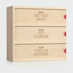 Wine Anniversary Gifts for Women:Three Nights - Wedding Wine Box