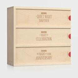 Anniversary Gifts for Men:Three Nights - Wedding Wine Box