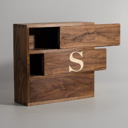 Gifts Over $200:Walnut Trio - Inlaid Wine Box